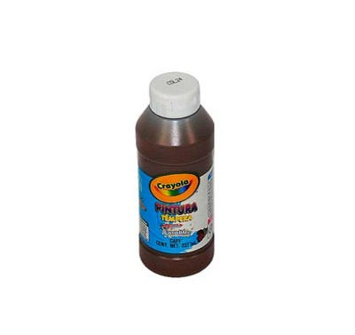 Pintura tempera Crayola cafe de 237 ml.